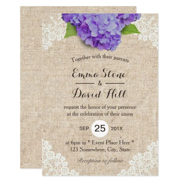 Burlap And Lace Wedding Invitations Burlap Wedding Invitations