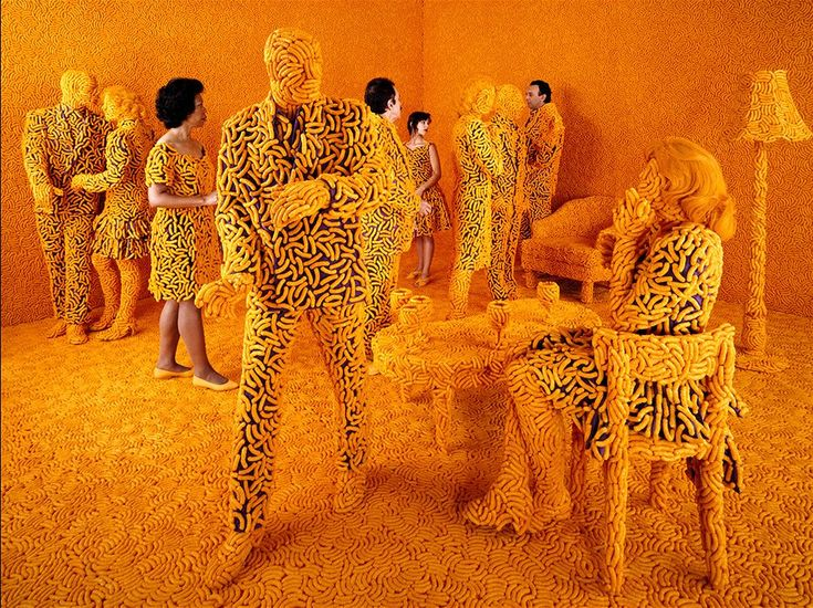 Cheetos people by Sandy Skoglund