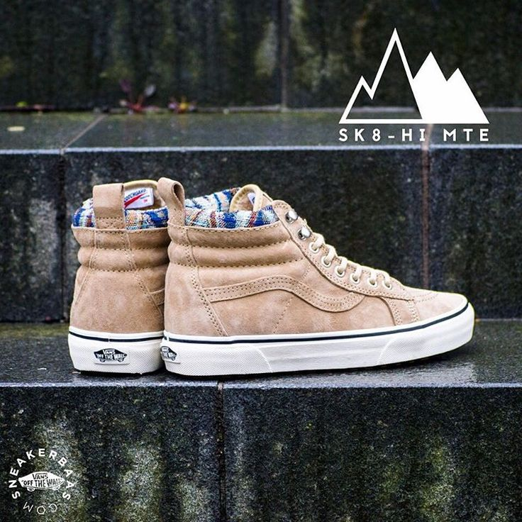 Vans Mte - These high Vans sneakers from the MTE series are made out of  suède and colored in a sick beige colorway. It is a cozy sneaker with a  thick band ...