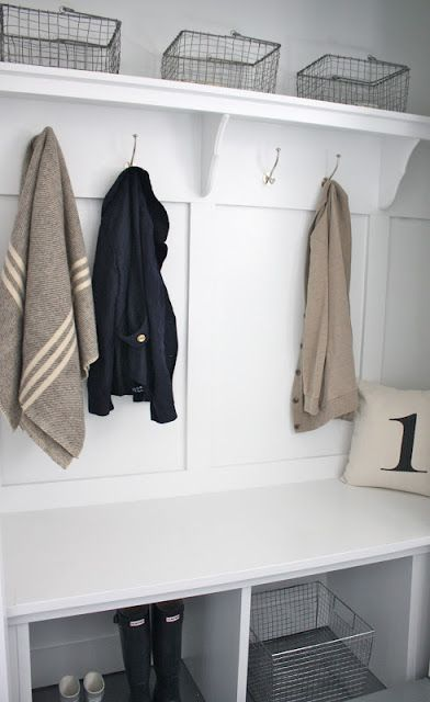 closet converted mudroom as featured on Remodelaholic