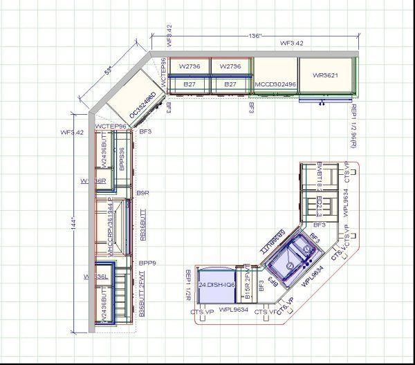 27 best floor plan kitchens images on pinterest kitchen layout
