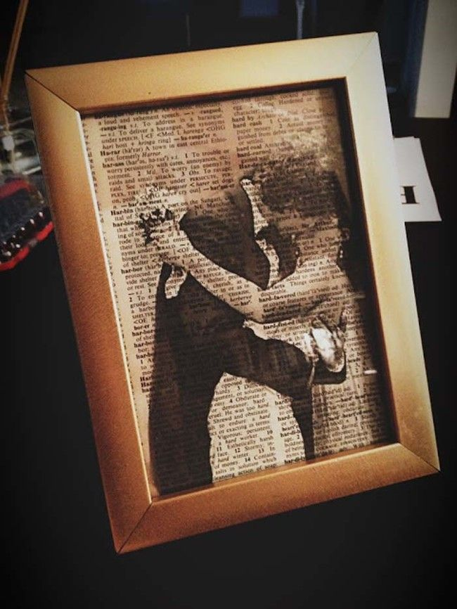 Print photos on book pages instead of photo paper. - I love this idea