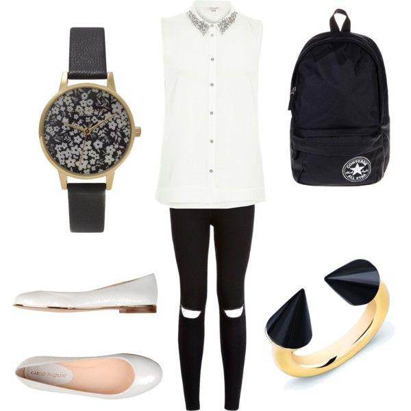 schoop outfit #10 by paty-porutiu on Polyvore featuring polyvore fashion style River Island Carlo Pazolini Converse Vita Fede Olivia Burton