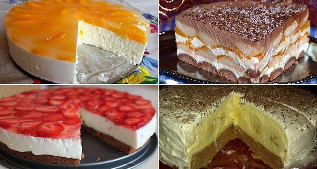 22 najlepších receptov na pečené a nepečené torty