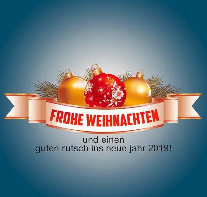 Frohe Weihnachten Und Ein Gutes Neues Jahr 2019 Weihnachten