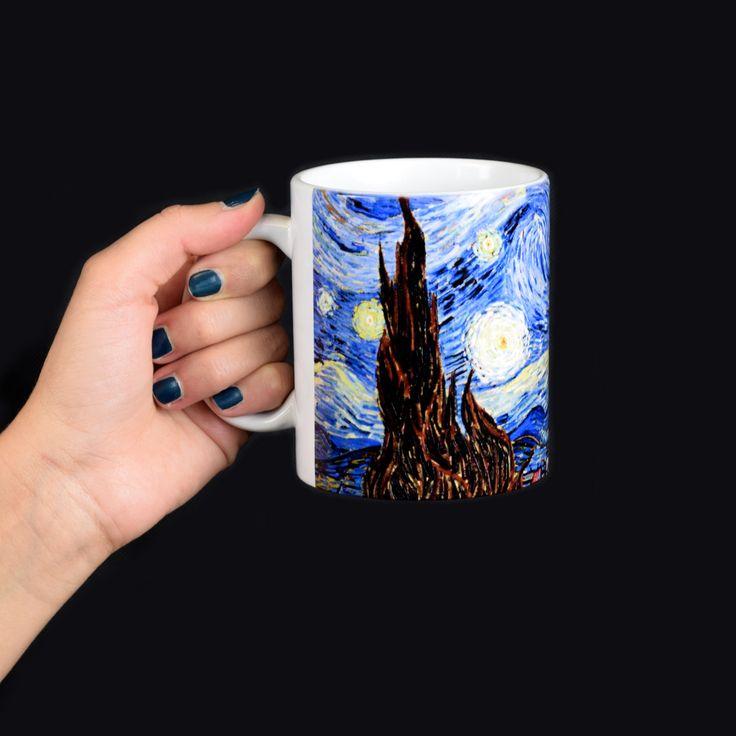#VanGogh #mug #promotionalitems #merchandising #madeinsadesign #VanGoghAlive #promotion Discover more about:http://blog.sadesign.it/van-gogh-alive-2/