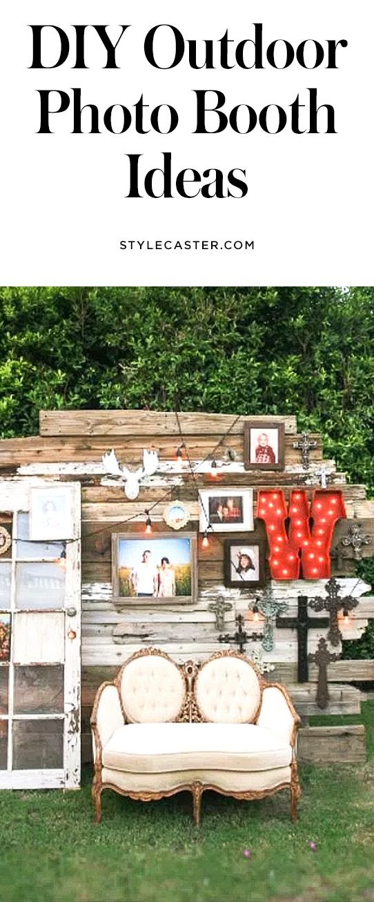 31 DIY outdoor photo booth backdrop ideas for weddings, summer parties, and backyard entertaining | @stylecaster | StyleCaster