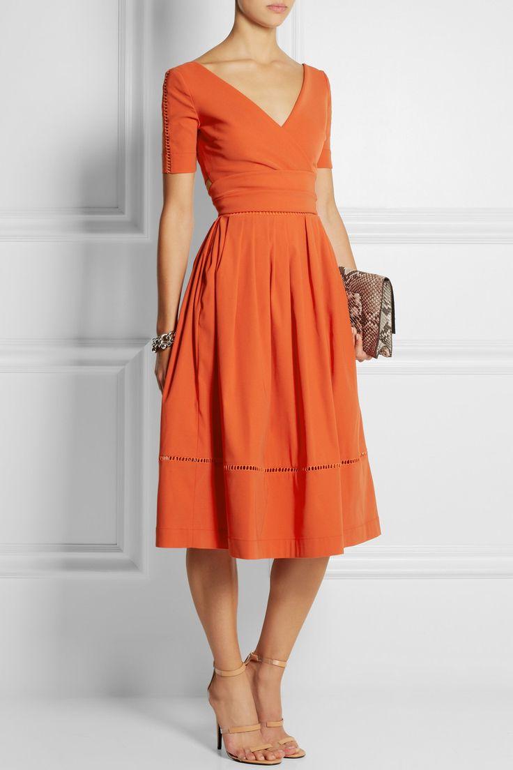 Preen by Thornton Bregazzi|Robin pointelle-trimmed stretch-crepe dress|NET-A-PORTER.COM