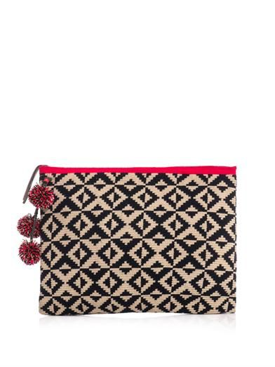 Sophie Anderson Marilu woven-cotton clutch