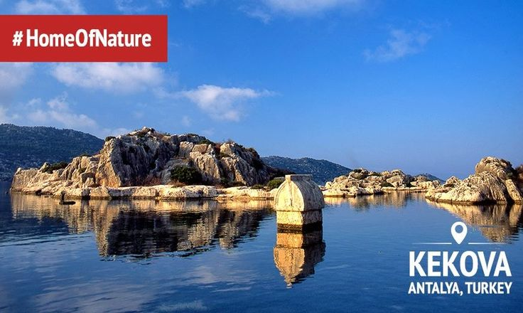 In the north side of Kekova you will see the ruins of destroyed by an earthquake in the II century BC the ancient city Dolichiste that have partially gone under water but clearly visible in the transparent water.