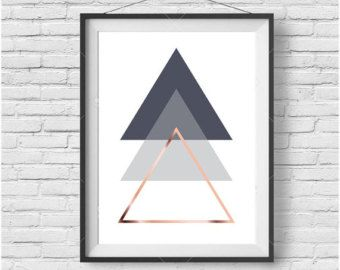 Scandinavian Geometric Print Scandinavian Art door PrintAvenue                                                                                                                                                                                 More