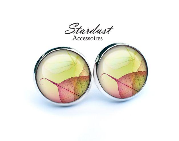 Ohrstecker silber ✿ Blätter ✿ von Stardust Accessoires auf DaWanda.com