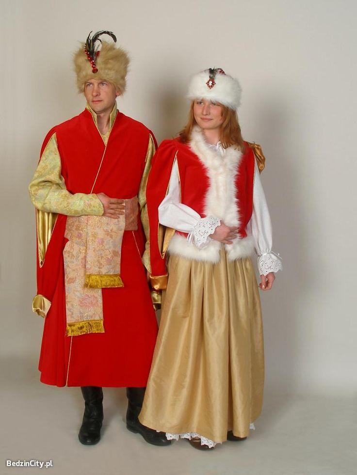 Renaissance-era Polish nobility (szlachta) dress.