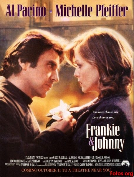 Frankie and Johnny is a 1991 American film directed by Garry Marshall, and starring Al Pacino and Michelle Pfeiffer in their first film together since Scarface (1983).