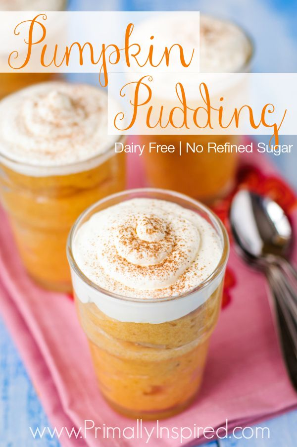 Pumpkin Pudding (Dairy Free) We can't get enough of this pumpkin pudding! It's rich, creamy,...Primally Inspired