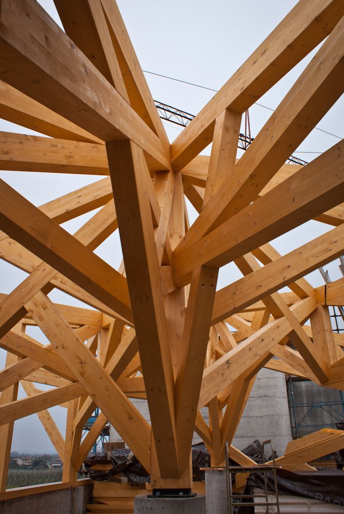 Struttura reticolare in legno lamellare - Desenzano (VR)