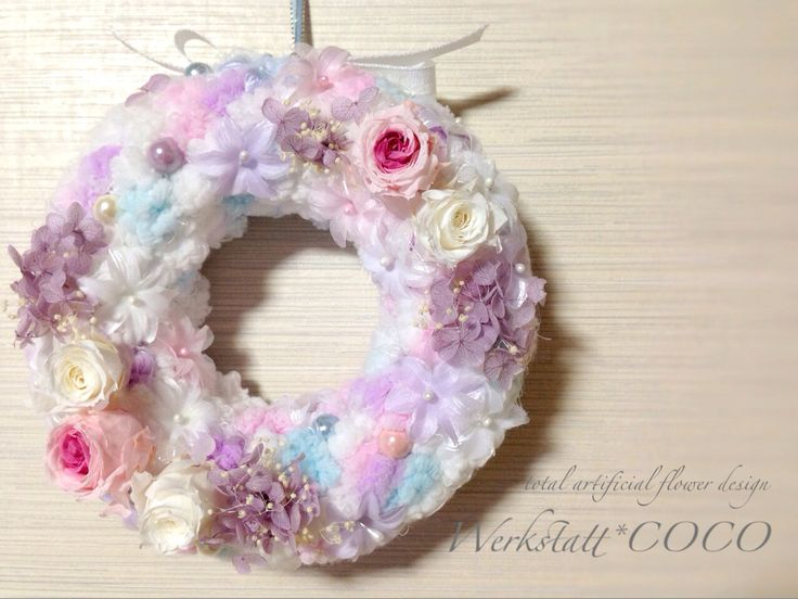 puffy wreath*old rose http://wercoco.theshop.jp/items/592257