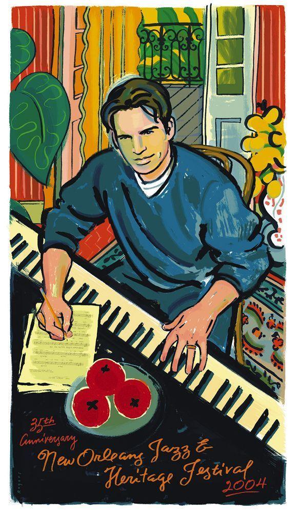 Paul Rogers 2004 New Orleans Jazz Fest Poster
