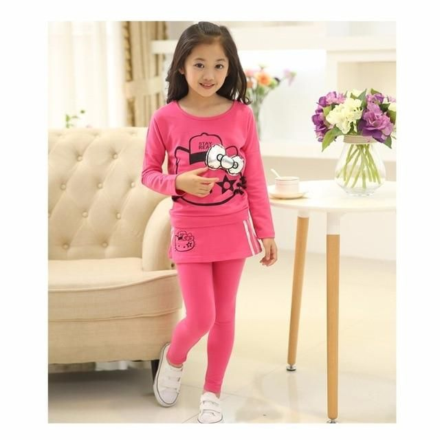 5caaa5a16 Hello Kitty top + leggings set | Bayou Girls Clothes in 2019 | Kids ...