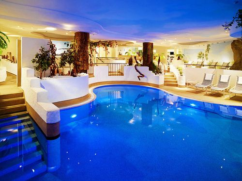 indoor pool - If you need me, I'll be lounging on my raft!