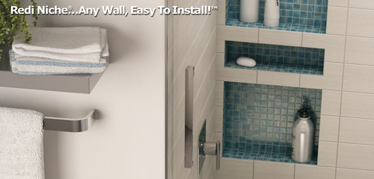 Redi Niche Recessed Shower Niche Provides The Convenience