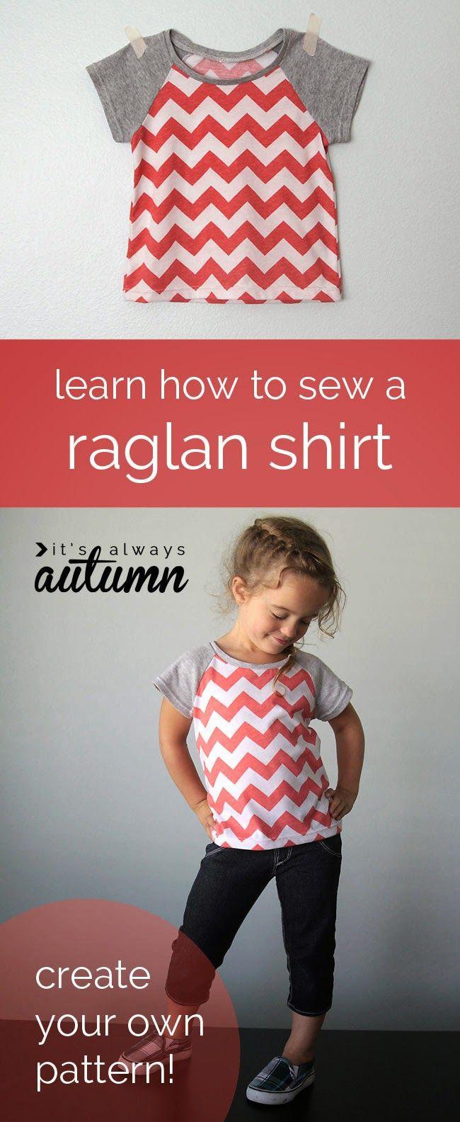 Cute Raglan Tee Free Sewing Pattern (Sew Pretty Sew Free)