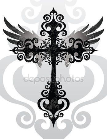 depositphotos_12407370-stock-illustration-cross-and-wings.jpg (348×450)