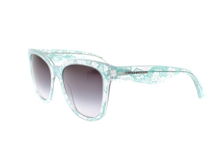 Dolce and Gabbana - Green Lace Plastic Uv Lens Womens Sunglasses