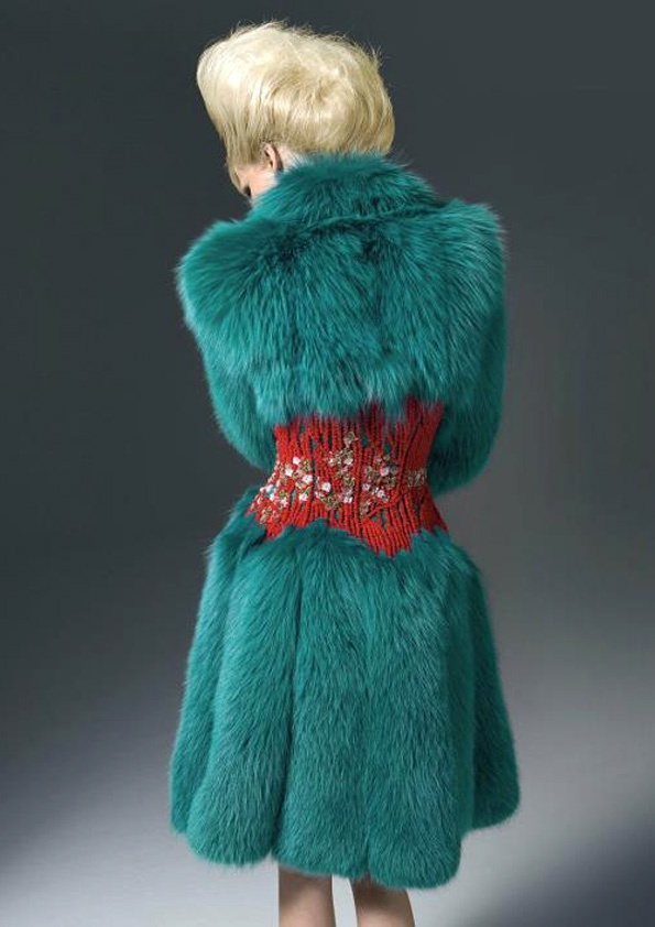 Donatella Versace- unfortunately this looks like it was made from real, new fur. Which I don't wear or support.