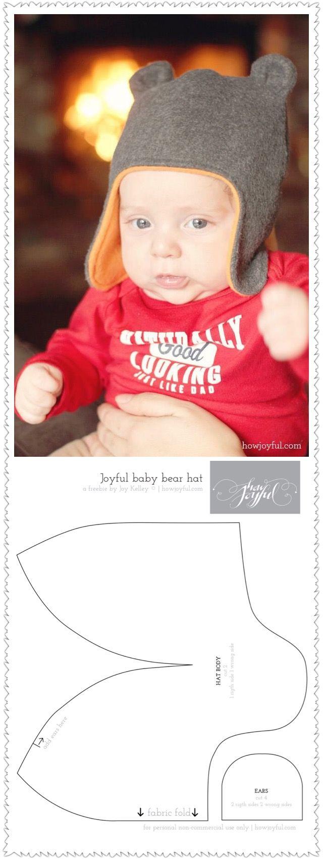 車縫頂熊仔帽俾BB戴:http://www.howjoyfulblog.com/2013/02/joyful-baby-hat-with-teddy-bear-ears-tutorial-and-pattern/  紙樣:http://howjoyful.webs.com/tutorials/joyful-bear-hat.pdf