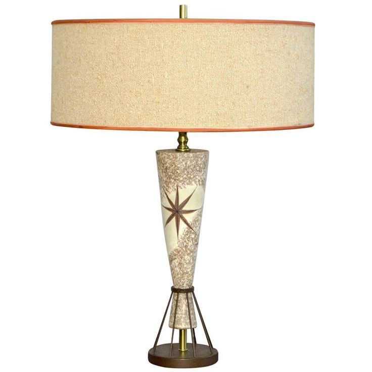 Vintage mid century table lamp marc bellaire style for Cool table lamps modern