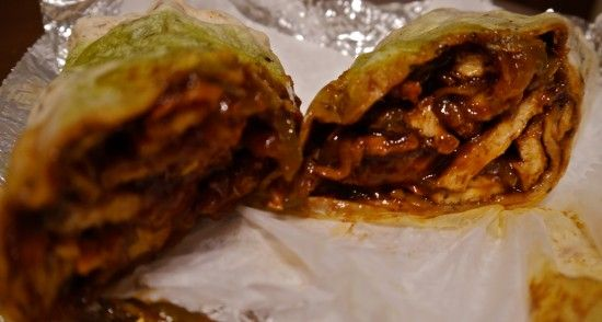 """Vegan Jerk """"Chicken"""" wrap in a not so savory part of town in the South Suburbs of Chicago.  GO Unity Cafe GO!! 15417 S. Vincennes Rd Phoenix, IL 60426"""