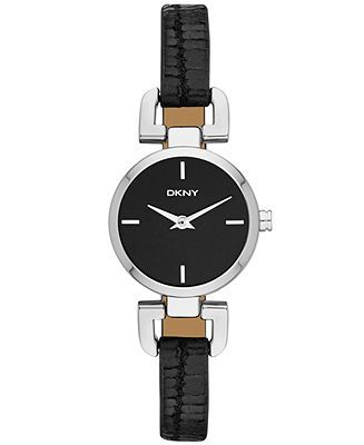 DKNY Watch, Women's Black Leather Strap 24mm NY8878 - Women's Watches - Jewelry & Watches - Macy's