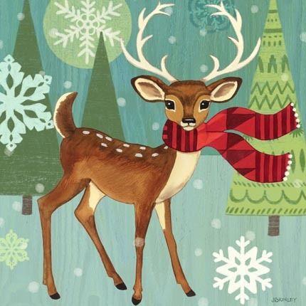 Woodland Deer by Jennifer Brinley | Ruth Levison Design