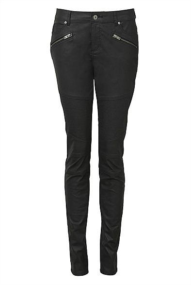 Black Coated Biker pants, witchery.com.au