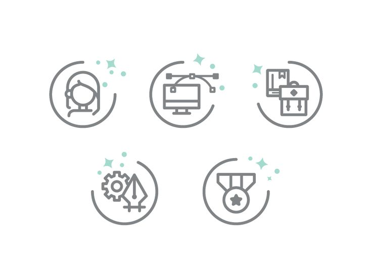 A set of simple icons for my resume. It's designed in my usual line style and I think it represents my work pretty well. Hope you like it! :)