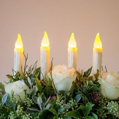 4 LED Taper Candles With Timer