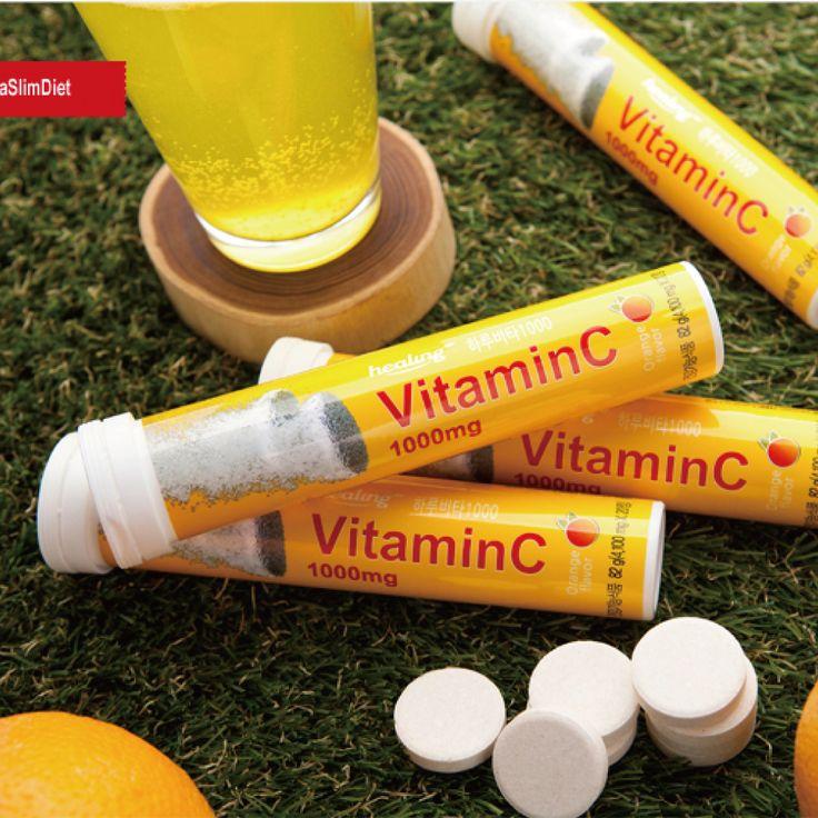 하루비타1000 발포비타민 한잔이면 하루필요한 비타민C를 모두 섭취할 수 있어요 비타민C 1000mg~!