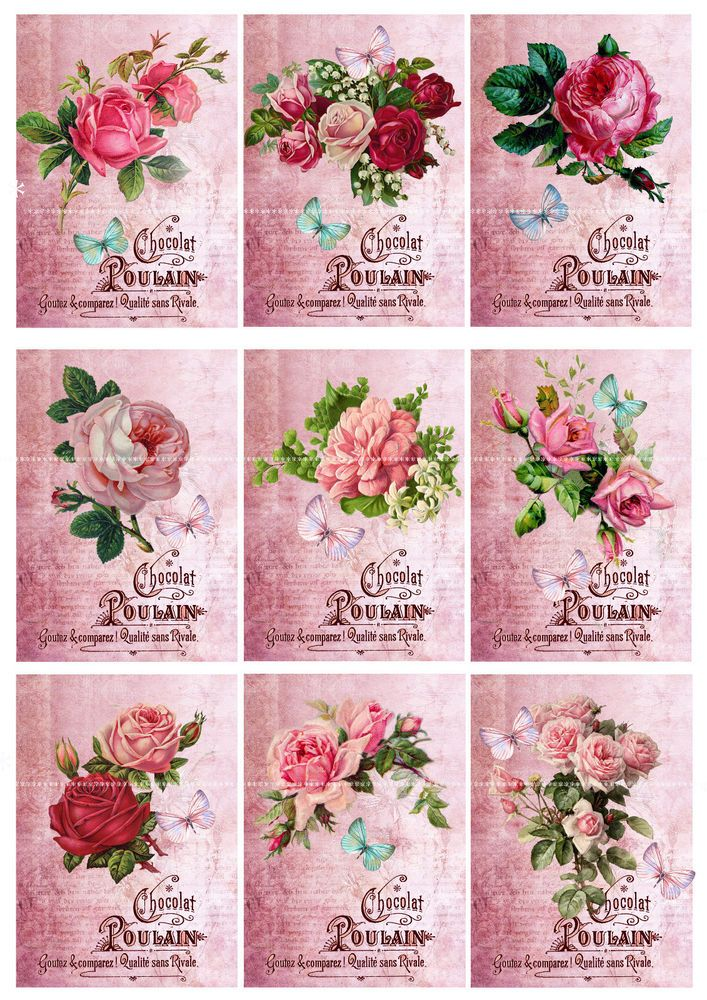 Scrapbooking 8x Vintage Flower Fairy Card Toppers Tags Cardmaking Craft