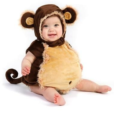 We're not monkeying around! This Mischievous Monkey Infant and Toddler costume is adorable. Includes a jumpsuit with a stuffed belly and a hood with ears