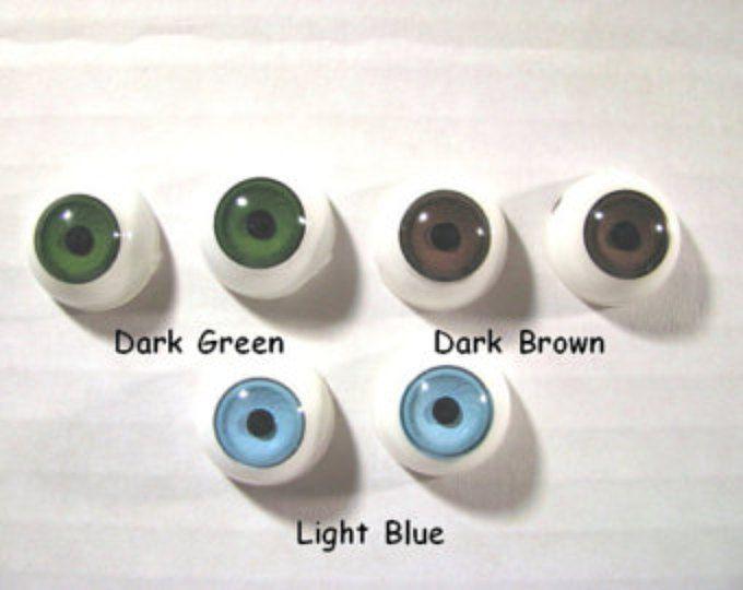 3 par 17 mm o 20mm ojos redondos de muñeca plástica cóncavo convexo estilo elegir colores para las muñecas, personajes de fantasía, títeres (PRD - 1)