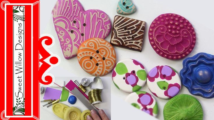 How to make buttons ~ Polymer Clay Tutorials