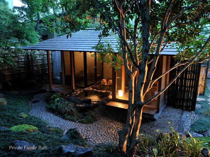 Private family open-air bath