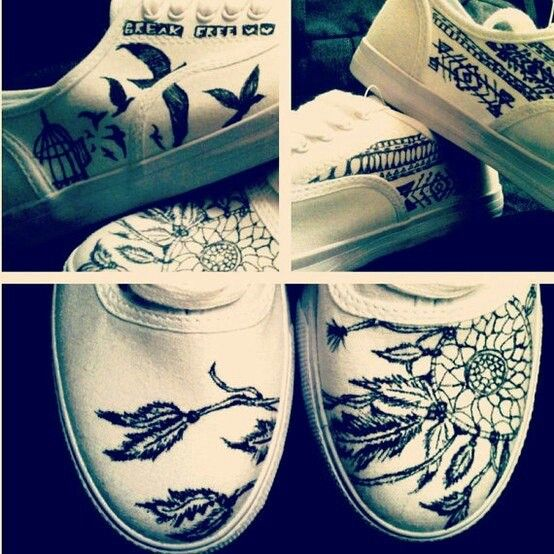 sharpie + shoes.