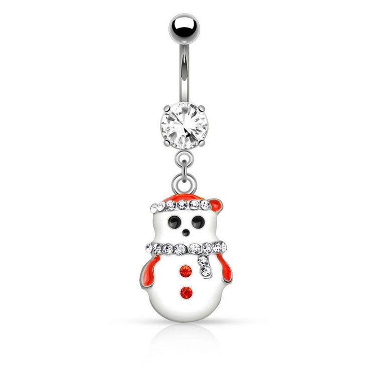Piercing nombril de Noël disponible sur Piercing Street. Petits prix, livraison en 24/48h et qualité garantie !