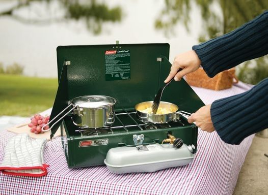 Johns Cross Motorcaravan and Camping Centre  - Coleman Dual Fuel 2 Burner Stove, £99.99 (http://www.johnscross.co.uk/coleman-dual-fuel-2-burner-stove.html)