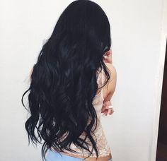 Resultado de imagen para cabello negro largo tumblr