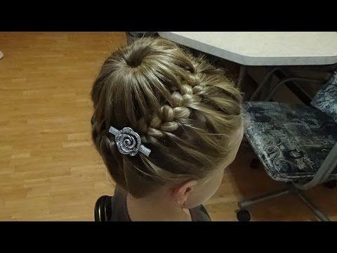 Причёска Корзинка с Французской Косой.Hairstyles.Tutorial. - YouTube