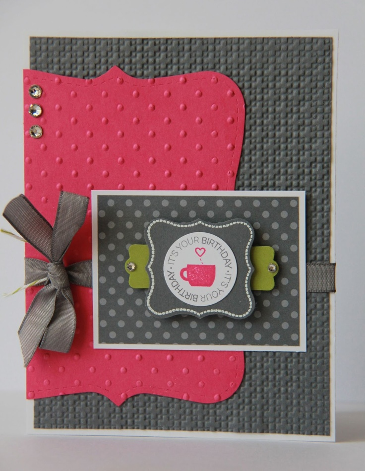 lots of ways to use the top note die!: Cards Ideas, Color Combos, Birthday Cards, Stampin Up, Cards Layout, Note Die, Ladybugs Design, Paper Crafts, Tops Note