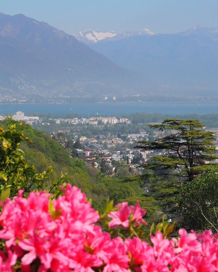 The view of Locarno, Switzerland